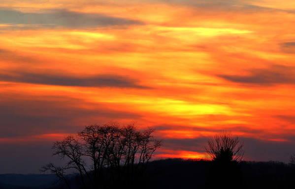 Sunset Art Print featuring the photograph Painted Sunset by David Jones