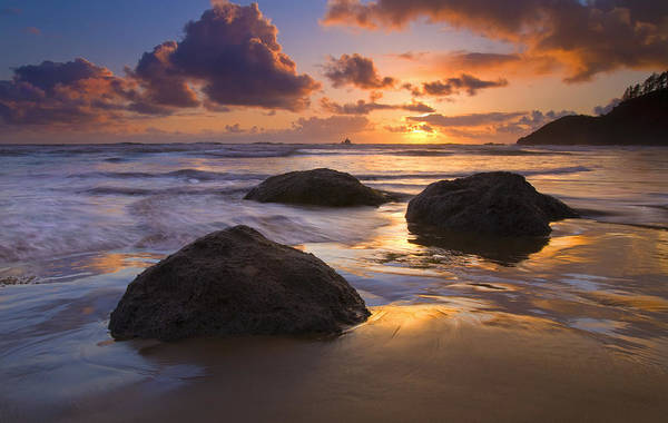 Sunset Art Print featuring the photograph Pieces Of Eight by Mike Dawson