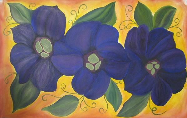 Purple Art Print featuring the painting Please Me Purple Passion by Deborah Schuster