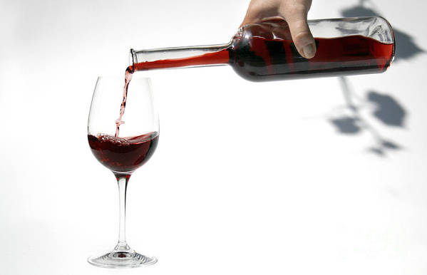 Alcohol Art Print featuring the photograph Pouring Red Wine Into Glass by Patricia Hofmeester