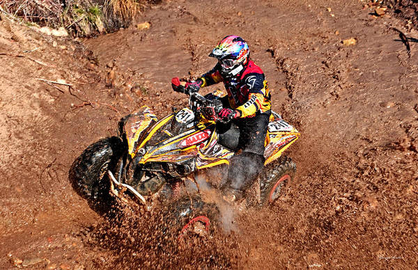 Atv Art Print featuring the photograph Racer #241 by George Bostian