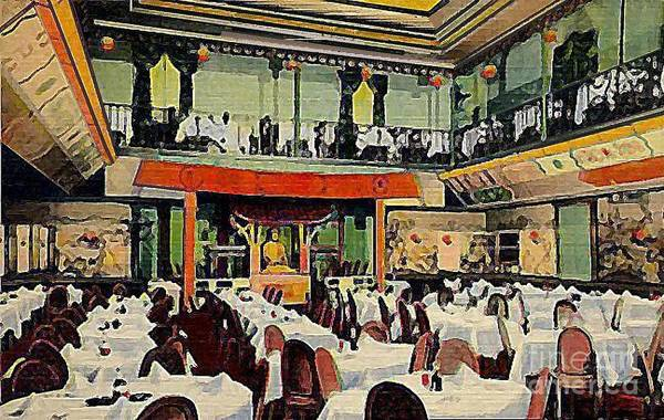 Restaurants Art Print featuring the painting Ruby Foo Den Chinese Restaurant In New York City by Dwight Goss