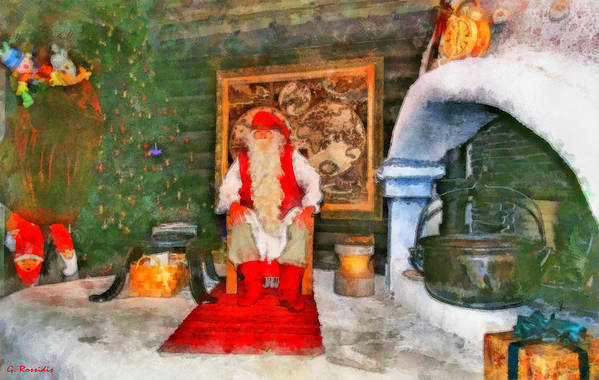 Rossidis Art Print featuring the painting Santa Claus by George Rossidis