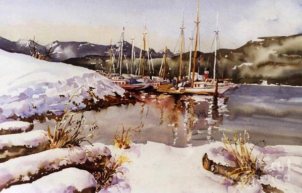 Landscape Art Print featuring the painting Special Winter In Vancouver by Marta Styk