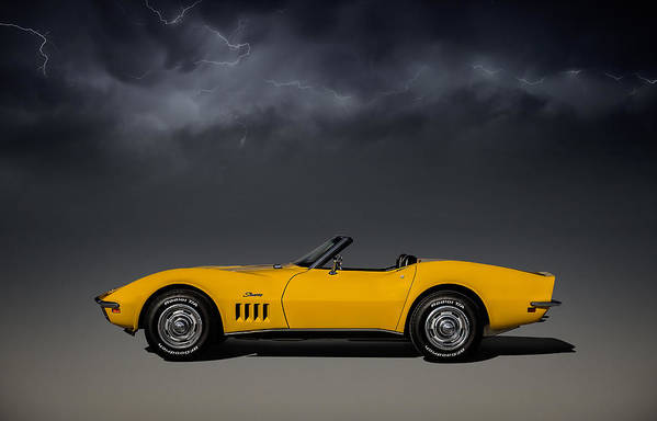 Corvette Art Print featuring the digital art Stormy Weather by Douglas Pittman