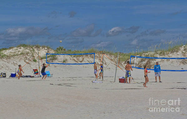 Volley Ball Art Print featuring the photograph Summer Volley Ball by Deborah Benoit