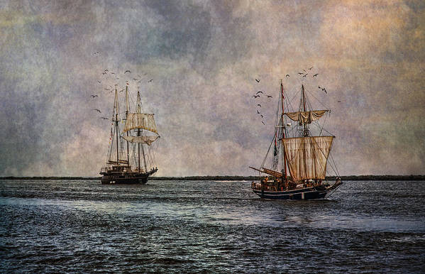 Tall Ships Art Print featuring the photograph Tall Ships by Dale Kincaid