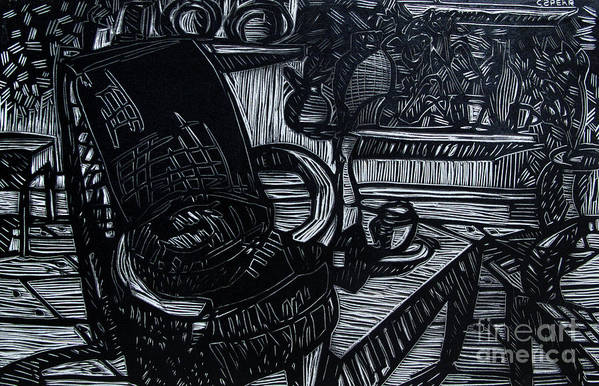 Chair Art Print featuring the relief The Chair Of My Dreams by Charlie Spear
