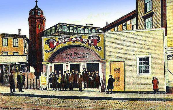 Vaudeville Art Print featuring the painting The Star Vaudeville Theatre In Westerly Ri In 1909 by Dwight Goss