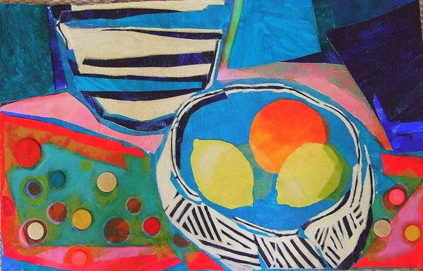 Mixed Media Still Life Art Print featuring the mixed media Tiddly Winks by Diane Fine