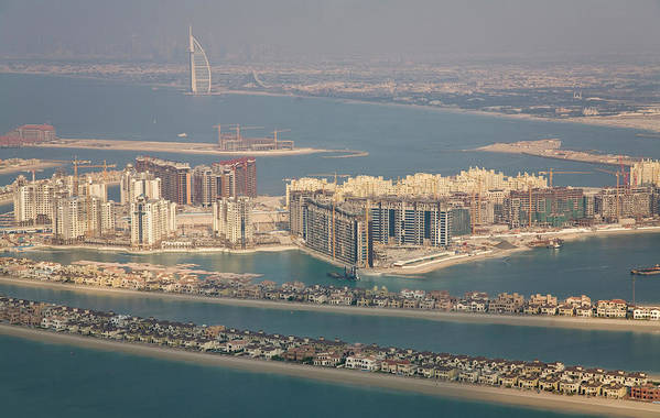 Apartment Art Print featuring the photograph Uae, Dubai Aerial Of Palm Jumeirah by Jaynes Gallery