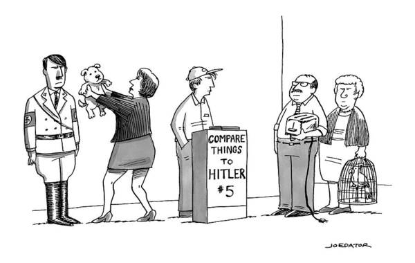 Hitler Art Print featuring the drawing New Yorker September 5th, 2016 by Joe Dator