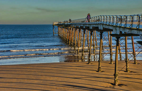 Saltburn Art Print featuring the photograph View From Saltburn Pier by Trevor Kersley