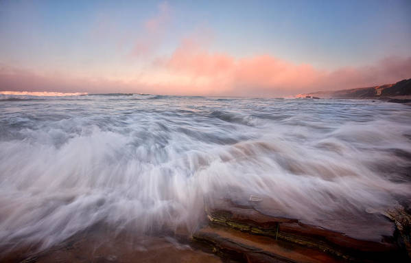 Crystal Cove State Park Art Print featuring the photograph Wave On Wave by Ronda Kimbrow