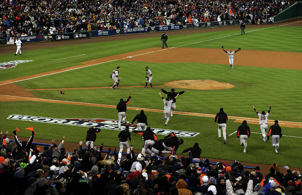 American League Baseball Art Print featuring the photograph World Series - San Francisco Giants V by Jonathan Daniel