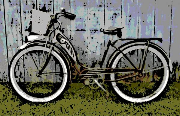 1953 Art Print featuring the photograph 1953 Schwinn Bicycle by George Pedro