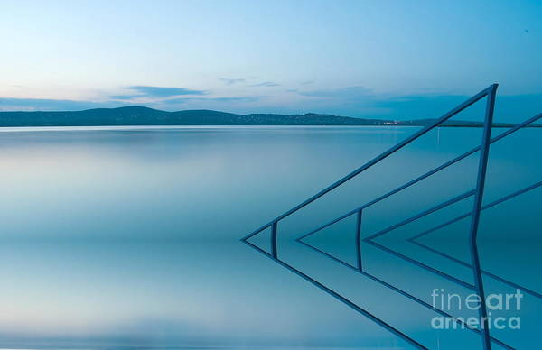 Nature Art Print featuring the photograph Blue Lake by Odon Czintos