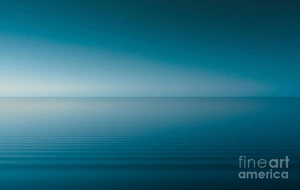 Nature Art Print featuring the digital art Blue Lake by Odon Czintos