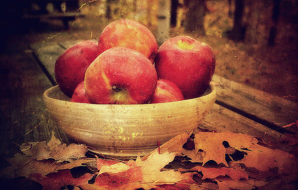 Apples Art Print featuring the photograph Apples by Kathy Jennings