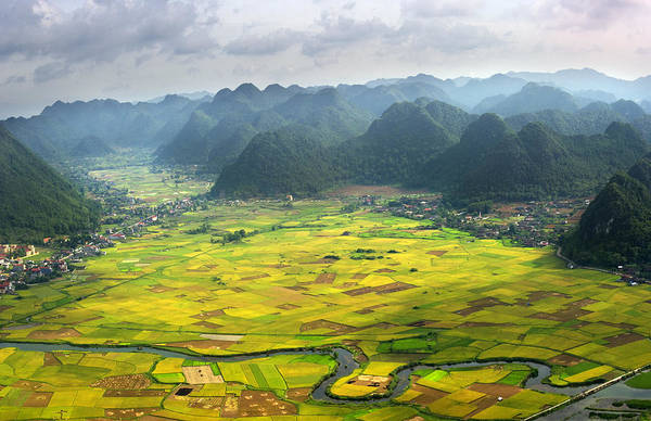 Horizontal Art Print featuring the photograph Bacson Valley by By Hoang Hai Thinh