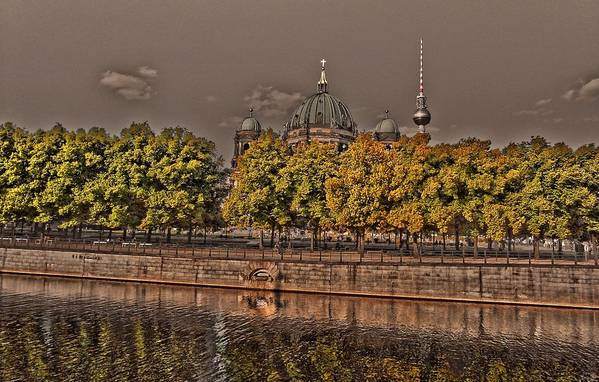 Europe Art Print featuring the photograph Berlin Cathedral ... by Juergen Weiss