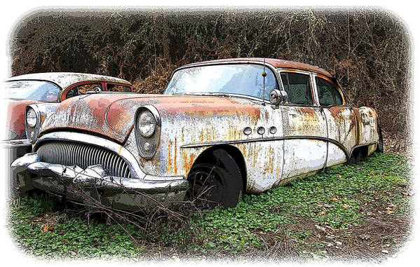 Buick Art Print featuring the photograph Buick Yard by Steve McKinzie