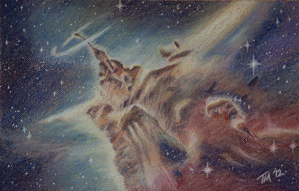 Space Art Print featuring the pastel Carina Nebula by Thomas Maynard