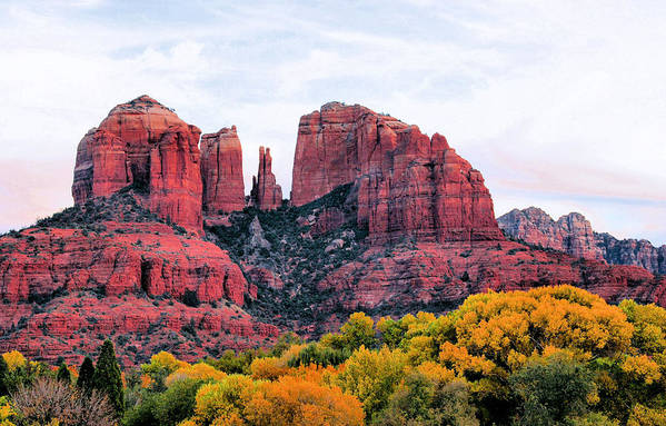 Cathedral Rock Art Print featuring the photograph Cathedral Rock by Kristin Elmquist