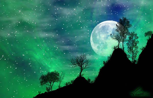 Dreamy Night Art Print featuring the digital art Dreamy Night by Anthony Citro