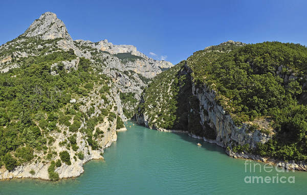 Majestic Art Print featuring the photograph Gorges Du Verdon River From Sainte-croix Lake by Sami Sarkis