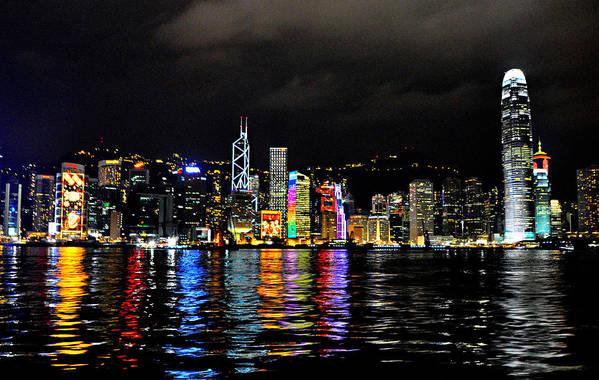 Hong Kong Art Print featuring the photograph Hong Kong Skyline by Thomas Michael Corcoran