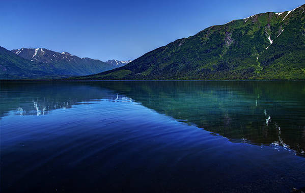 Kenai Lake Art Print featuring the photograph Kenai Lake Blues by Michele Cornelius