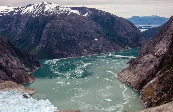 Frederick Sound Art Print featuring the photograph Leconte Glacier by Mike Reid