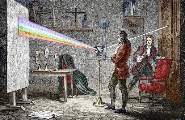 Isaac Newton Art Print featuring the photograph Newton's Optics by Sheila Terry