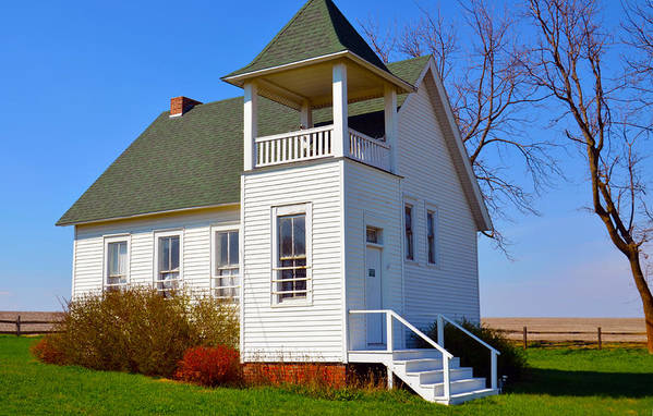One Room School House Art Print featuring the photograph One Room School House No.2 by Christine Belt