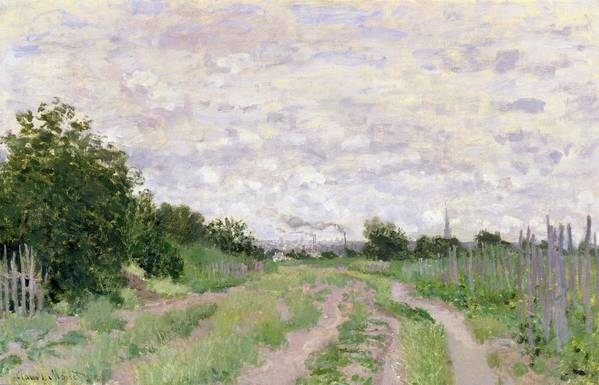 Path Art Print featuring the painting Path Through The Vines At Argenteuil by Claude Monet
