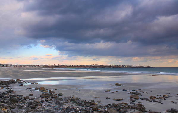 Beach Art Print featuring the photograph Quiet Winter Day At York Beach by John Burk