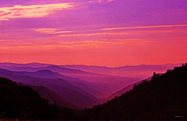 Sunrise Art Print featuring the photograph Smoky Mountain Sunrise 005 by George Bostian