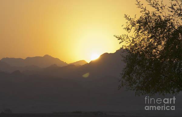 Calm Art Print featuring the photograph Sunset Over The Sinai Desert by Roberto Morgenthaler