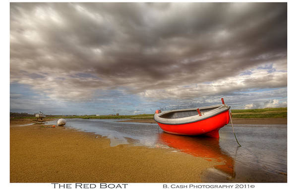 Boat Art Print featuring the photograph The Red Boat by Beverly Cash