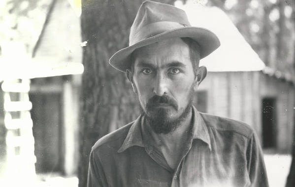 Digitized Art Print featuring the photograph Vintage Portrait by Alan Espasandin