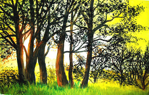 Landscape Art Print featuring the painting Arbutus by Vivian Mosley