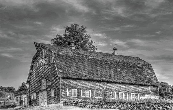 Barns Art Print featuring the photograph Ct. Barn by Terry McCarrick