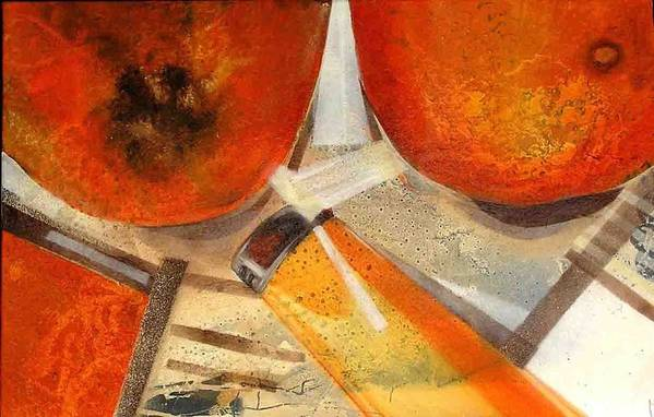 Art Print featuring the painting Orange Still Life by Evguenia Men