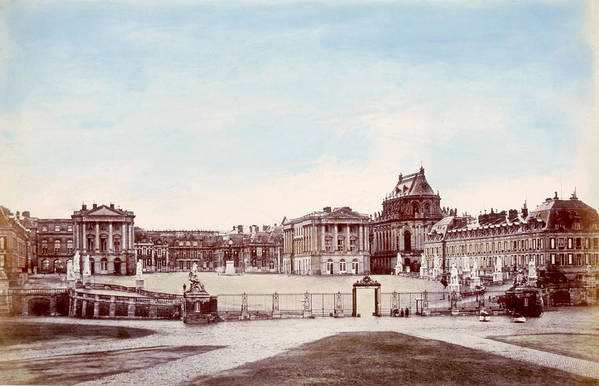 1880s Art Print featuring the photograph The Palace Of Versailles. C. 1880 by Everett