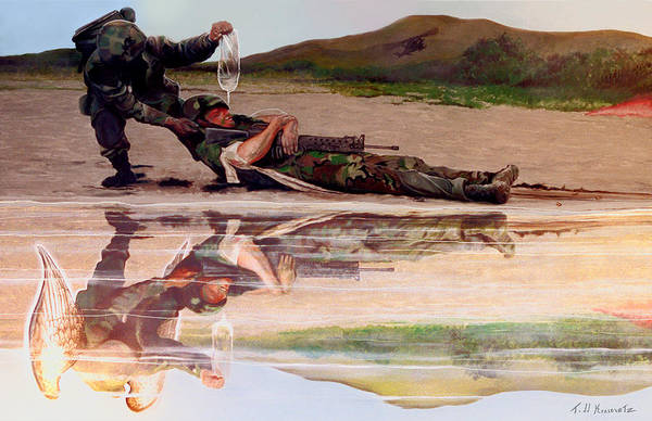 Military Art Art Print featuring the photograph Wings Of Hope by Todd Krasovetz