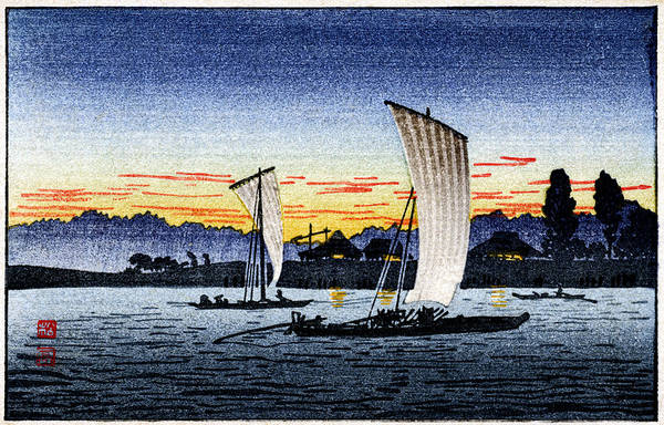 Japanese Art Print featuring the painting 1900 Japanese Fishermen by Historic Image