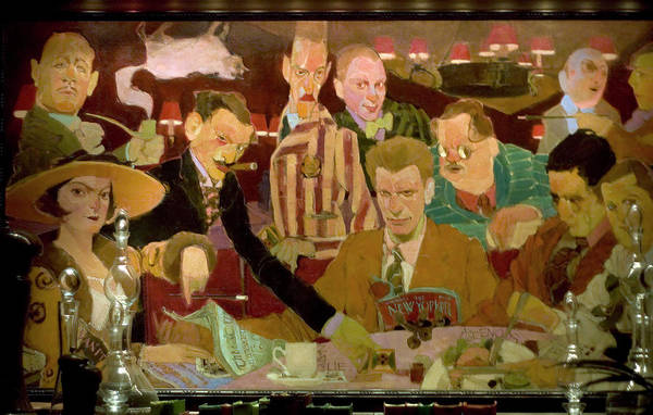 Dinner at the Algonquin Round Table by Carl Purcell