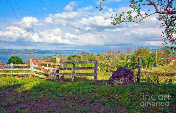 Landscape Art Print featuring the photograph A Costa Rica View by Madeline Ellis