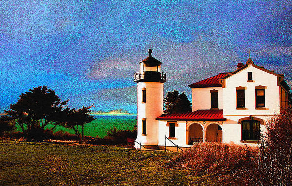 Lighthouse Art Print featuring the photograph Admiralty Head Lighthouse Dp15 by Mary Gaines